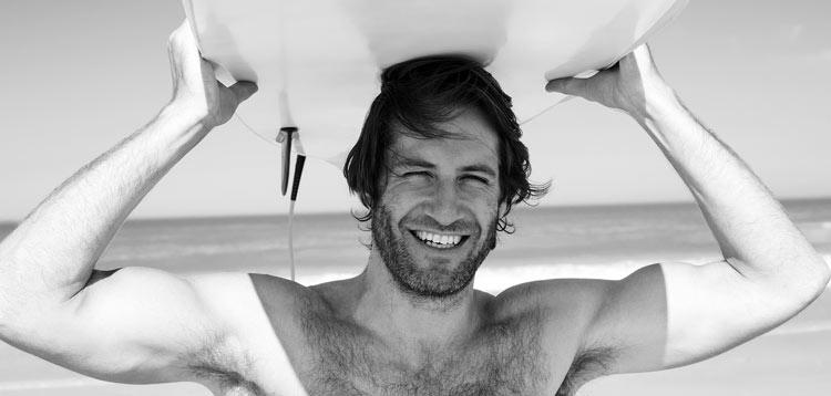 Surfer Gesicht lachen zähne zahnpflege